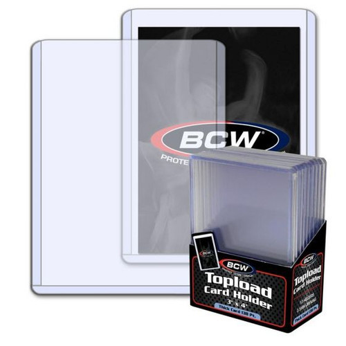 BCW 3.5mm / 138pt Topload Card Holder (10 Count Pack) Thick Card Toploaders