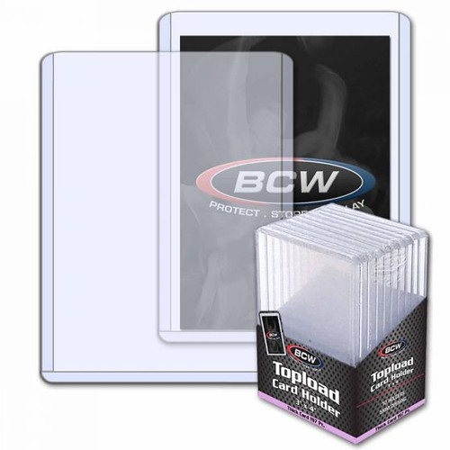 BCW 5mm / 197pt Topload Card Holder (10 Count Pack) Thick Card Toploaders