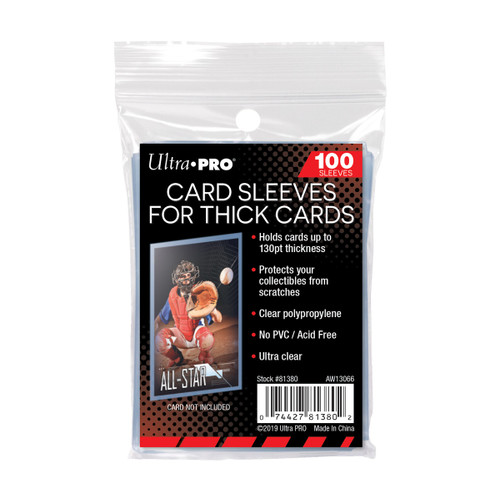 Ultra Pro Thick Card Sleeves (100 Count Pack) For Thick Trading Cards