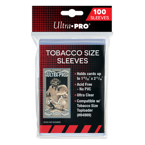 Ultra Pro Tobacco Size Trading Card Sleeves (100 Count Pack) For Mini T-206 Size Cards
