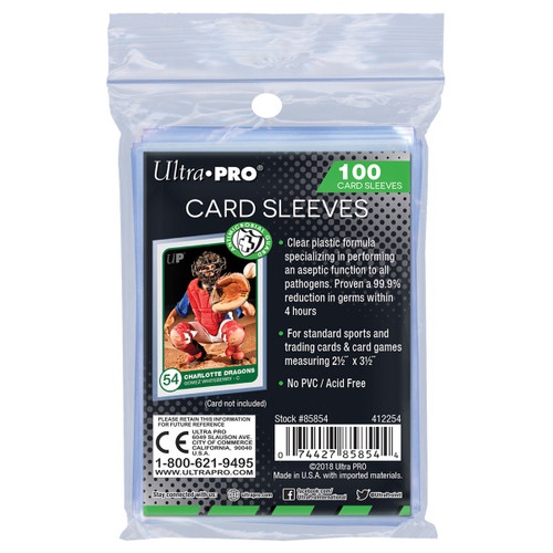 Ultra Pro Anti-Microbial Trading Card Sleeves (100 Count Pack) For Trading Cards