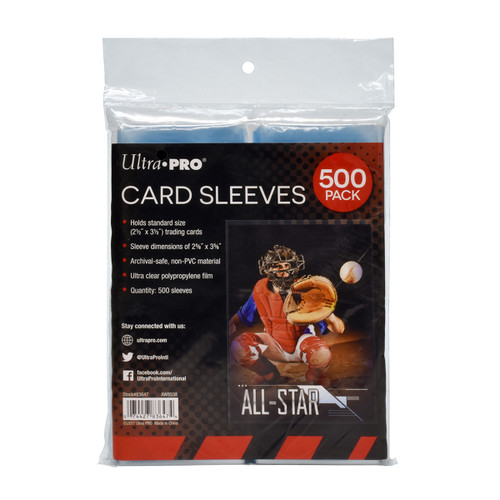 Ultra Pro Standard Card Sleeves (500 Count Pack) For Trading Cards
