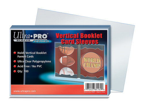 Ultra Pro Vertical Booklet Card Sleeves (100 Count Pack) For Book Size Trading Cards