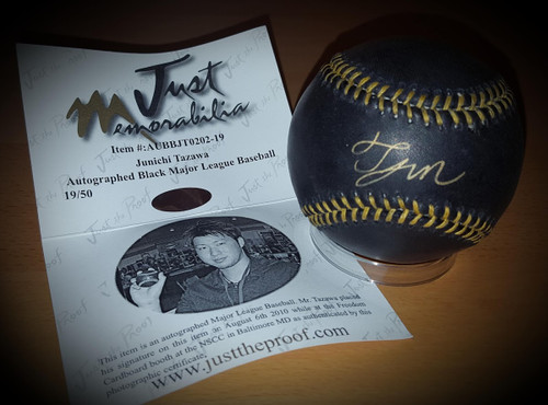 Junichi Tazawa Chicago Cubs Signed Autographed Limited Black Ball 19/50 with COA