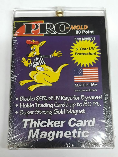 Pro-Mold 80pt Thicker Size Magnetic Trading Card Holder with UV Protection