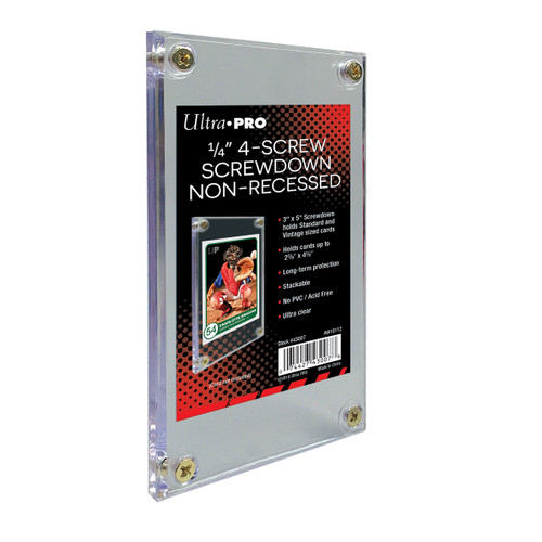 """Ultra Pro 1/4"""" Non-Recessed 4-Screw Card Holder Stackable Screwdown"""