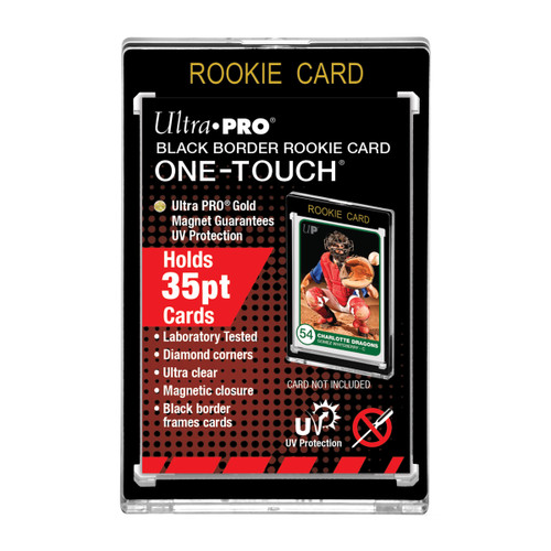 Ultra Pro 35pt Black Border ROOKIE One-Touch Magnetic Trading Card Holder with UV Protection