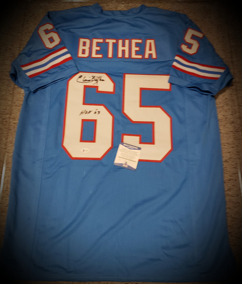 Elvin Bethea Houston Oilers Signed Autographed Jersey Beckett Authenticated COA