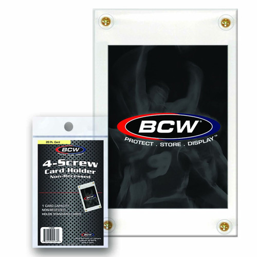 BCW 4-Screw Card Holder Non-Recessed Standard Card Screwdown Stackable