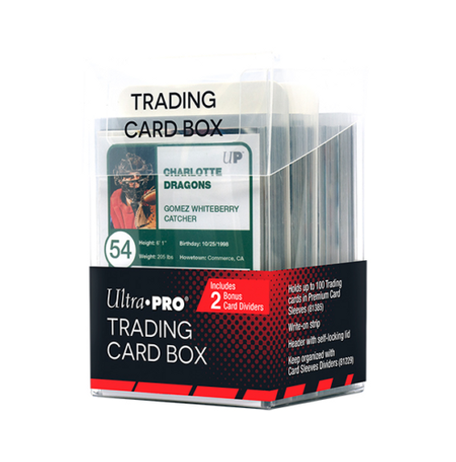 Ultra Pro Trading Card Box Plastic Storage Box with 2 Dividers - Flip Top