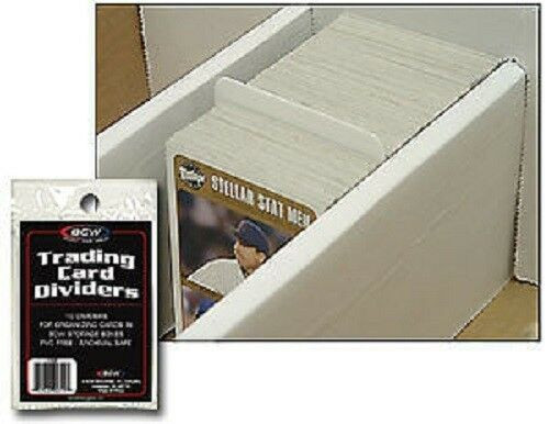 BCW Trading Card Dividers (Pack of 10)  Standard Size Fits Monster/Super Shoe Box and Storage Boxes