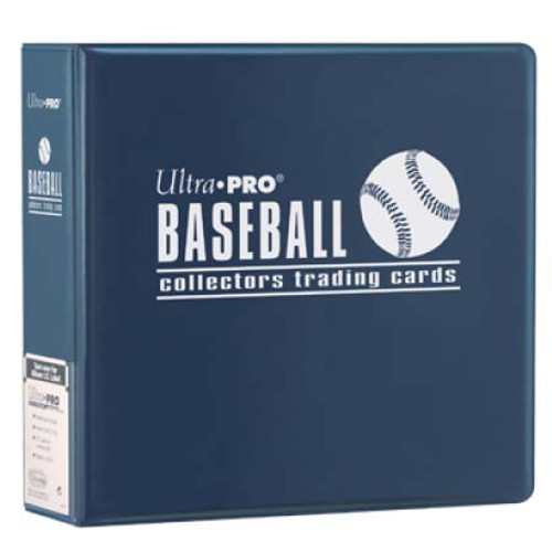 """Ultra Pro 3"""" Baseball Trading Card Collector's Album (Blue) Collection Binder"""