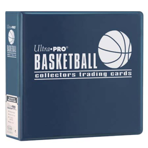 """Ultra Pro 3"""" Basketball Trading Card Collector's Album (Blue) Collection Binder"""