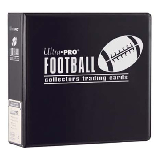 """Ultra Pro 3"""" Football Trading Card Collector's Album (Black) Collection Binder"""