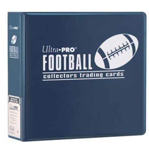 """Ultra Pro 3"""" Football Trading Card Collector's Album (Blue) Collection Binder"""