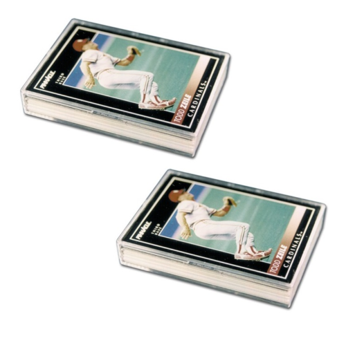 (2-Pack) Pro-Mold 25 Card Size Plastic Storage Box with Snap Lock Lid