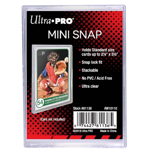 Ultra Pro Mini Snap Card Holder For Standard Size Cards