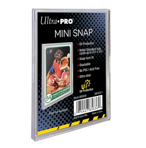 Ultra Pro UV Protected Mini Snap Card Holder For Standard Size Cards