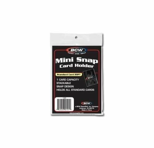 BCW Mini Snap Card Holder For Standard Size Cards