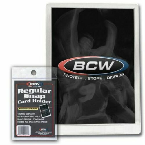 BCW Regular Snap Card Holder Full Size For Standard Cards