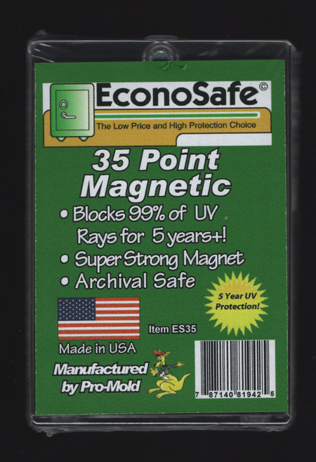 EconoSafe 35pt Regular Size Magnetic Trading Card Holder with UV Protection