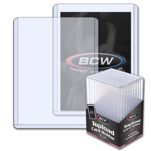 BCW 4.25mm / 168pt Topload Card Holder (10 Count Pack) Thick Card Toploaders