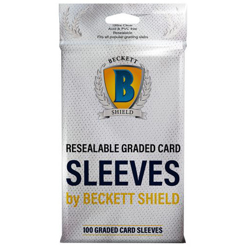 (Pack of 100) Beckett Shield Resealable Graded Card Sleeves or Storage Bags