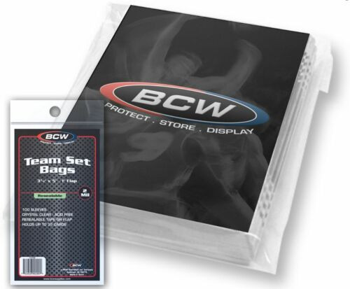 (100 Count) BCW Resealable Team Set Bags (1 Pack)
