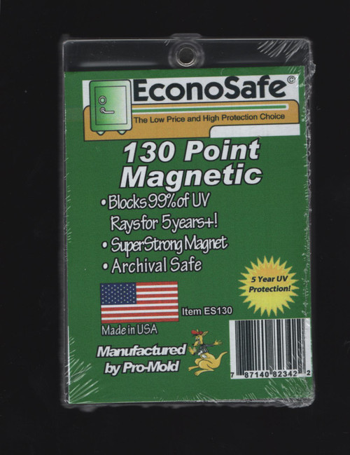 EconoSafe 130pt Thick Size Magnetic Trading Card Holder with UV Protection