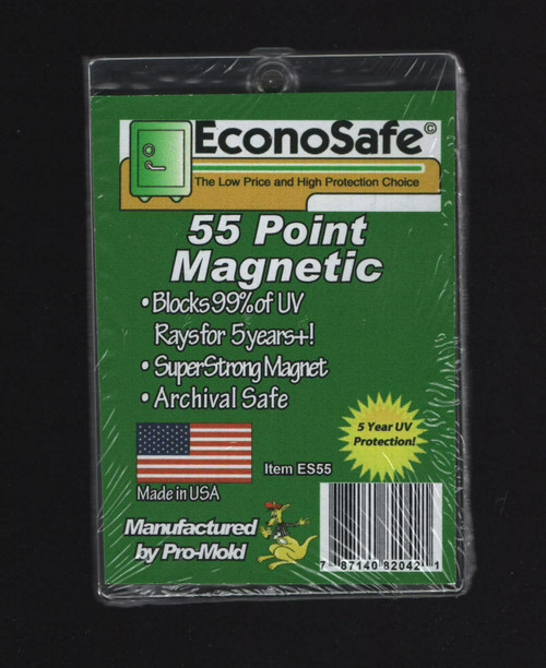 EconoSafe 55pt Thicker Size Magnetic Trading Card Holder with UV Protection