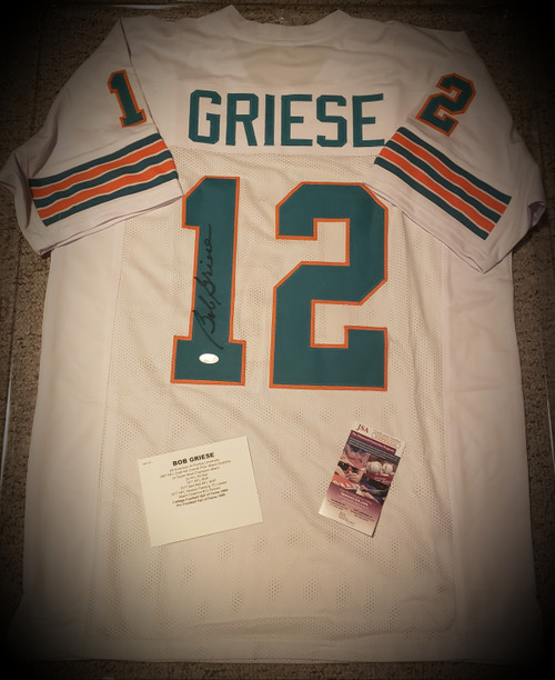 Bob Griese Signed Autographed Jersey JSA Authenticated COA