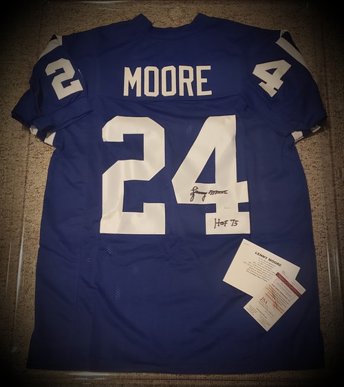 Lenny Moore Signed Autographed Jersey JSA Authenticated COA