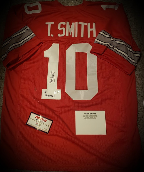Troy Smith Signed Autographed Jersey Tristar Authenticated COA