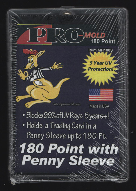 Pro-Mold 180pt Sleeved Card Size Magnetic Trading Card Holder Fits Card In Sleeve