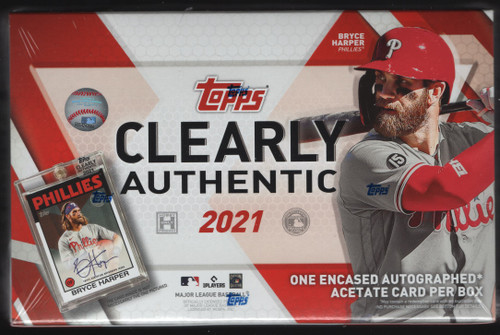 2021 Topps Clearly Authentic Hobby Box