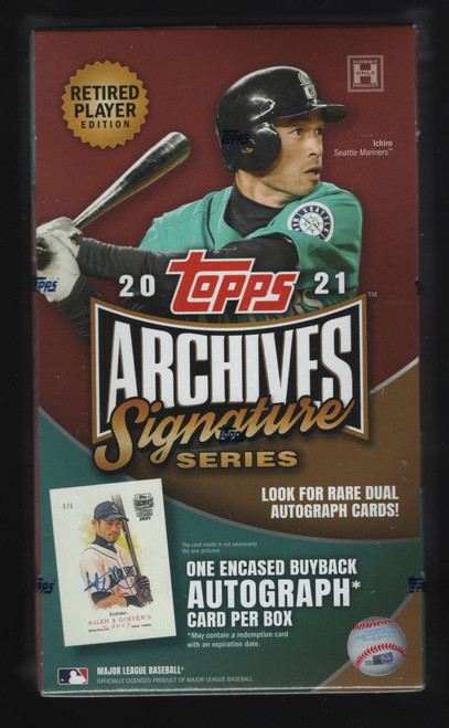 2021 Topps Archives Signature Series Retired Edition Hobby Box