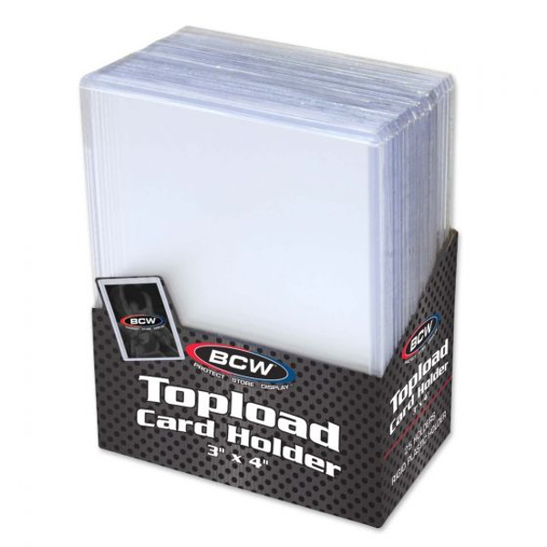 """BCW Topload Card Holder 3"""" x 4"""" (25 Count Pack) Trading Card Toploaders"""