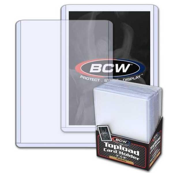 """BCW Premium Topload Card Holder 3"""" x 4"""" (25 Count Pack) Trading Card Toploaders"""