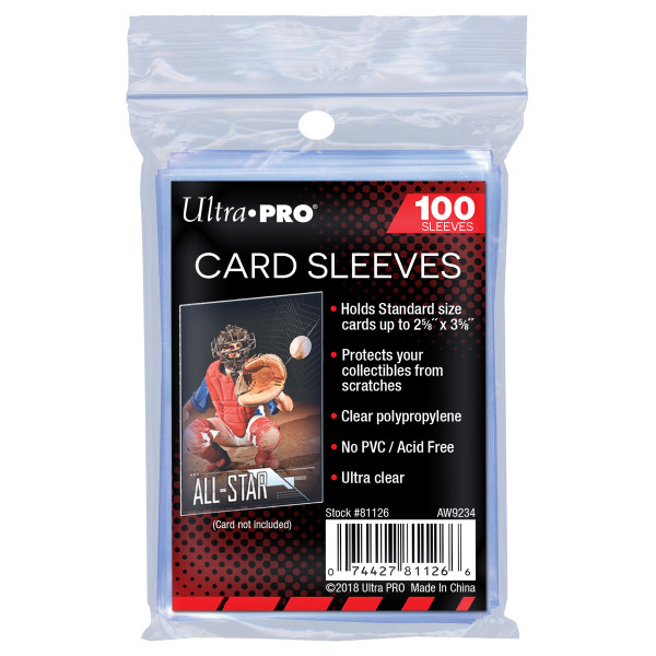 Ultra Pro Standard Card Sleeves (100 Count Pack) For Trading Cards
