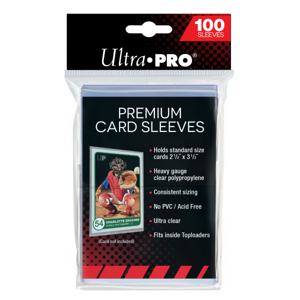 Ultra Pro Premium Platinum Trading Card Sleeves (100 Count Pack) Heavy Duty