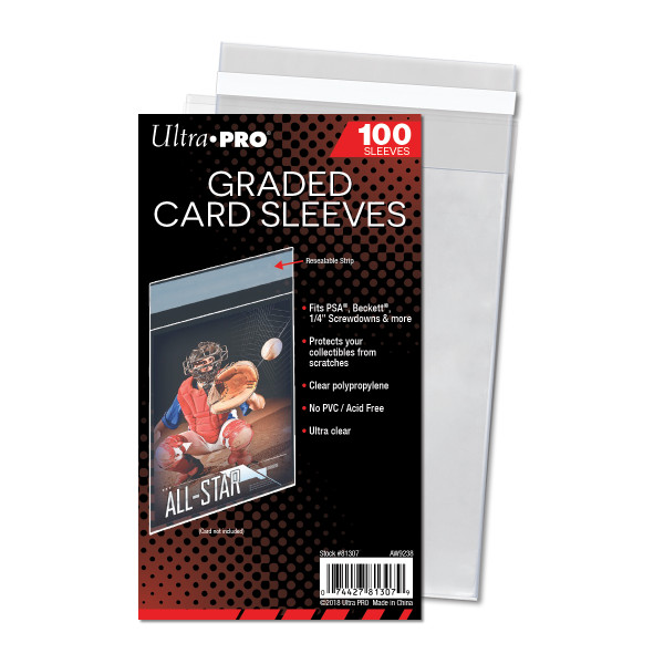 Ultra Pro Graded Card Sleeves (100 Count Pack) Resealable Bags For Cards, Screwdowns, One Touches