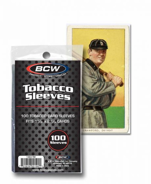 BCW Tobacco Size Trading Card Sleeves (100 Count Pack) For Mini T-206 Size Cards