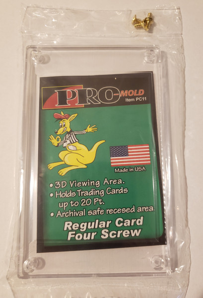 Pro-Mold 4-Screw Recessed Screwdown Trading Card Holder Stackable