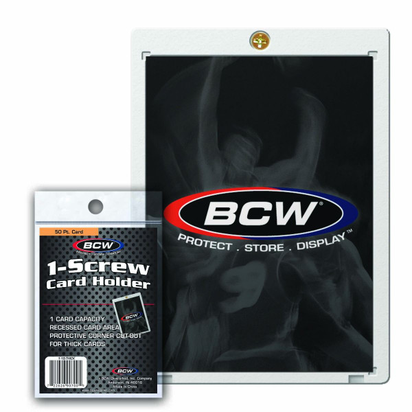 BCW 1-Screw Card Holder 50pt Thicker Card Size Recessed