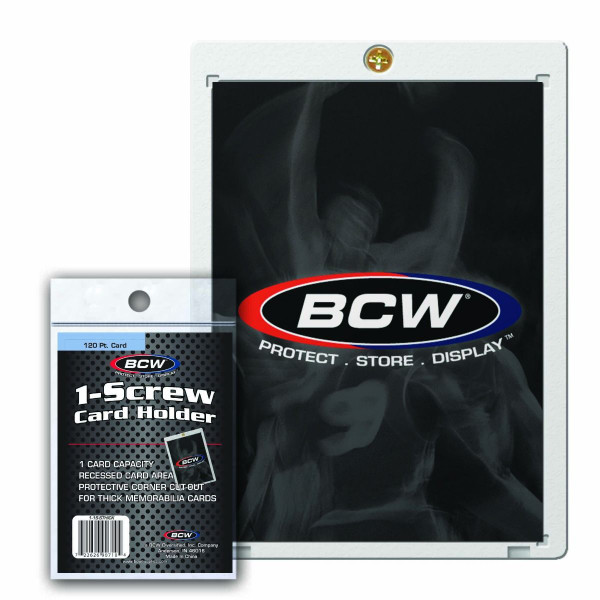 BCW 1-Screw Card Holder 120pt Super Thick Card Size Recessed