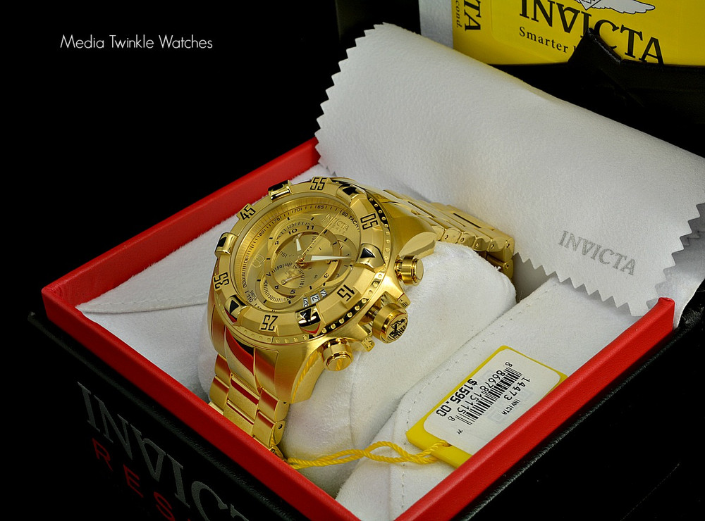 Invicta 14473 Reserve Excursion Swiss Quartz Chronograph All Gold Plated Stainless Steel | Free Shipping