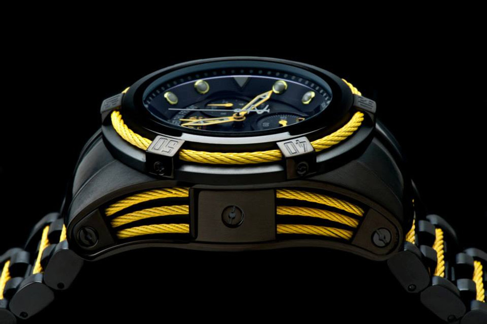 Invicta 14423 Jason Taylor Reserve Zeus Bolt Limited Edition Stainless Steel Bracelet Watch w/3 Slot Dive Case   Free Shipping