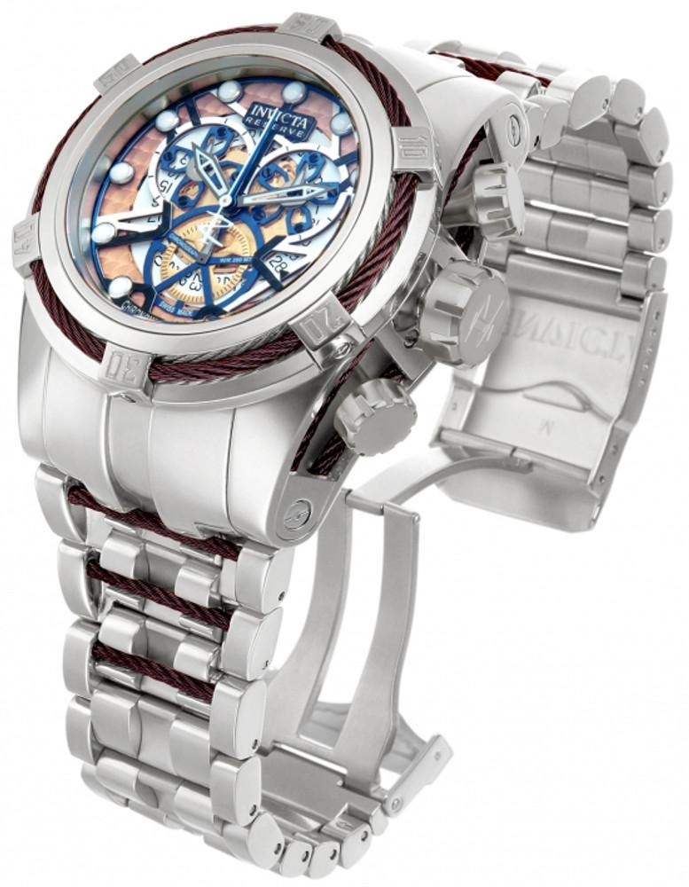 Invicta 13750 Reserve Men's Bolt Zeus Swiss Made Brown COSC Quartz Chronograph Bracelet Watch | Free Shipping