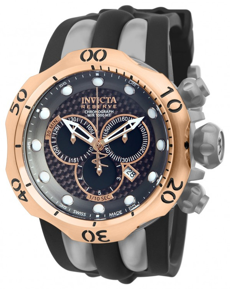 Invicta 14518 Reserve Men's Venom Swiss Quartz Chronograph Titanium Case Polyrethane Strap Watch   Free Shipping