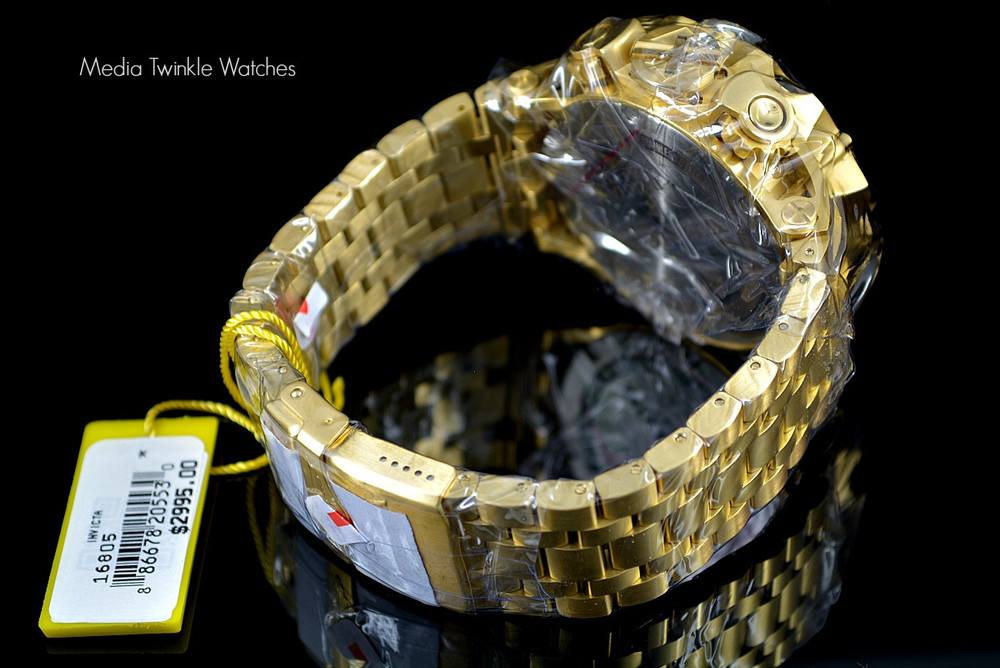 Invicta 16805 Reserve VENOM Hybrid Gold 5040F Swiss Quartz Chronograph Bracelet Watch | Free Shipping